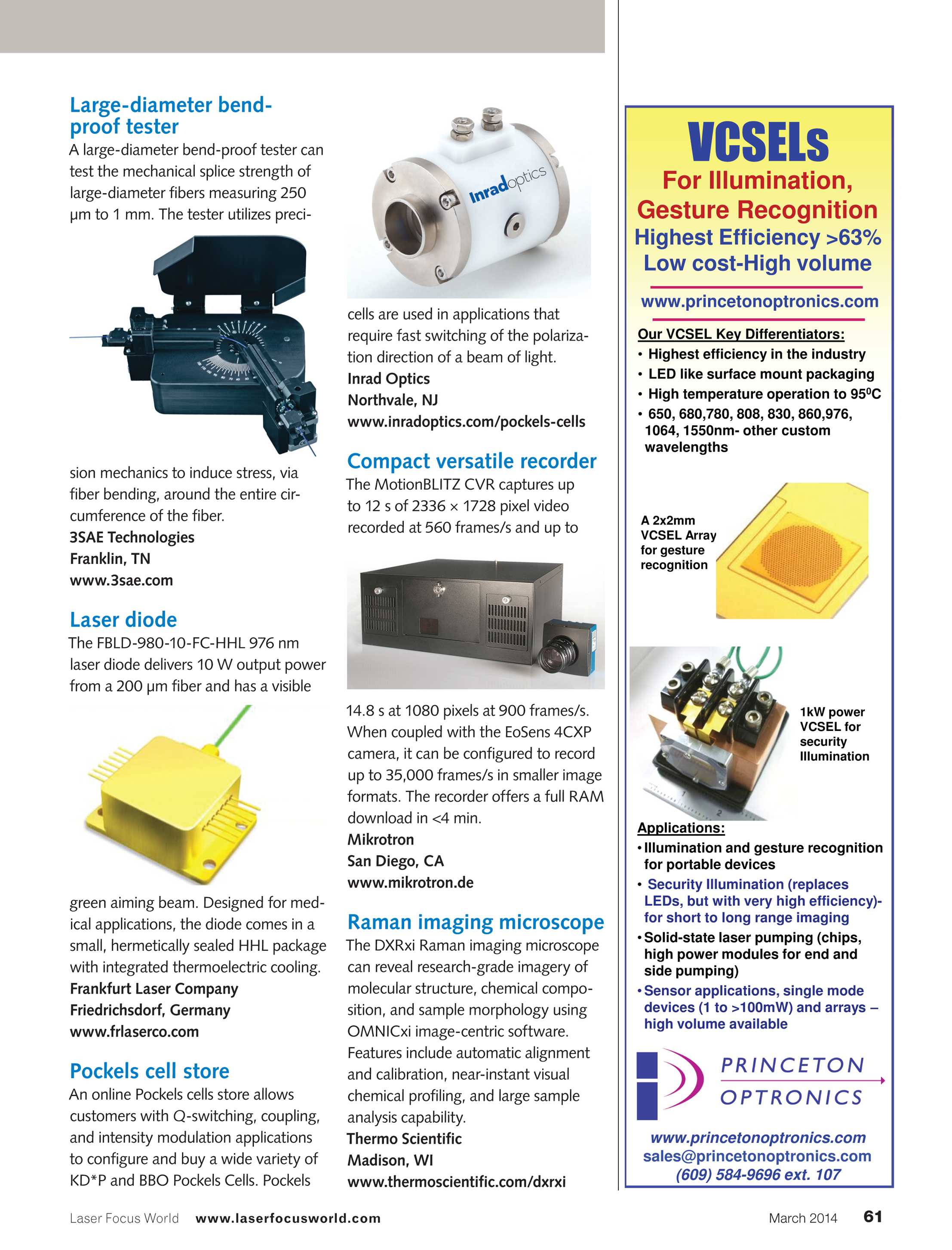 Laser Focus World - March 2014 - page 61