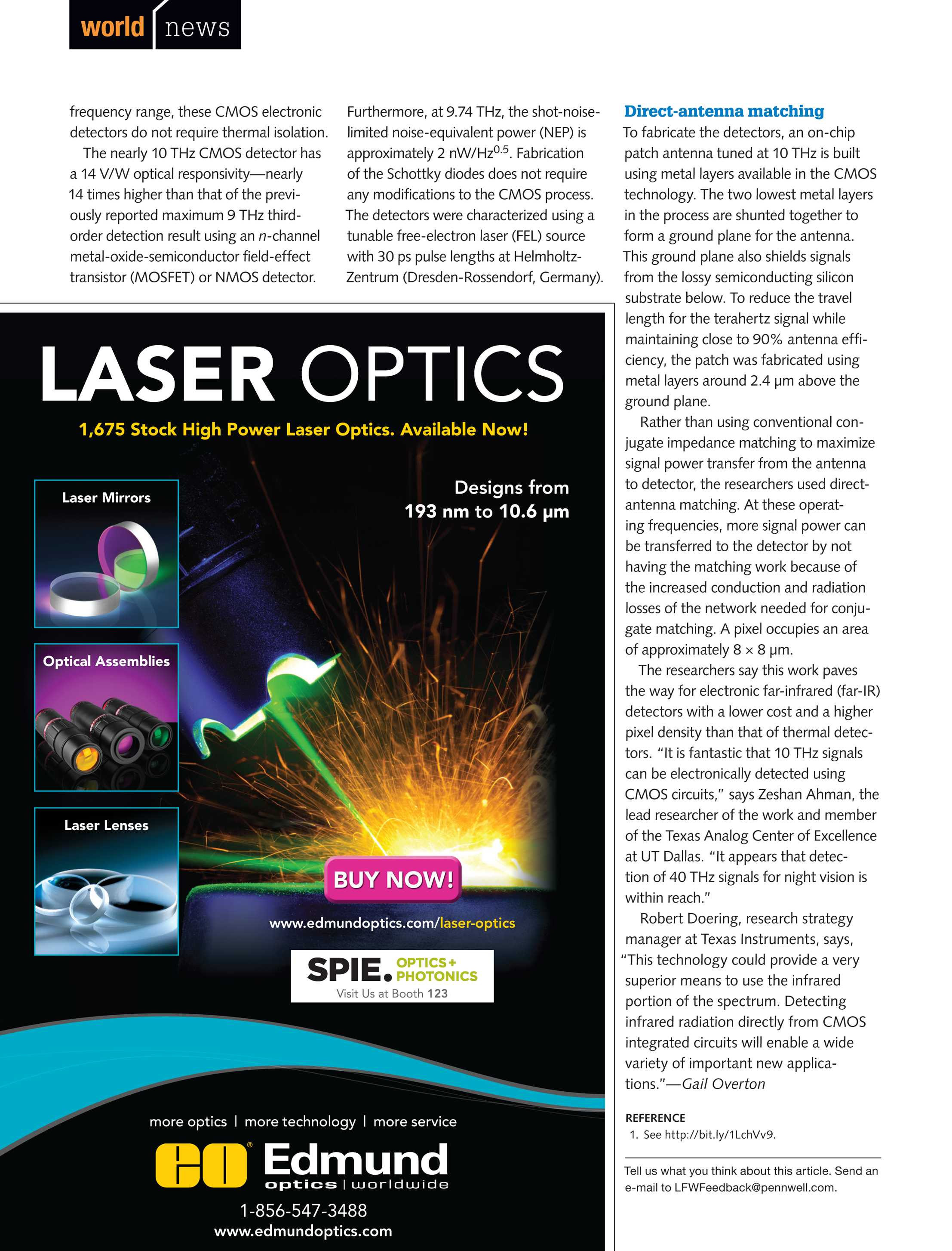 Laser Focus World August 2015 Page 22 Optically Isolated Power Transistor