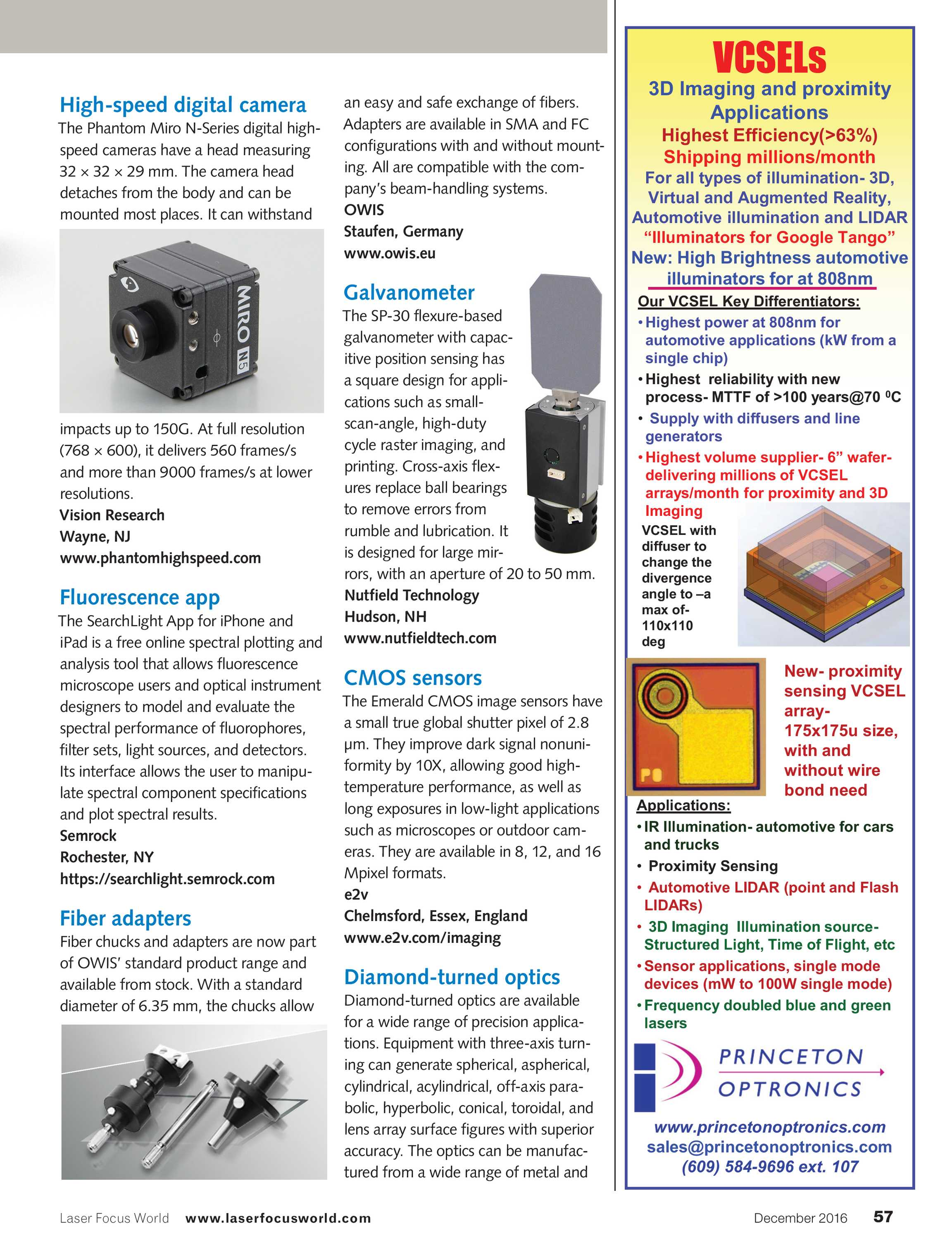 Laser Focus World - December 2016 - page 57