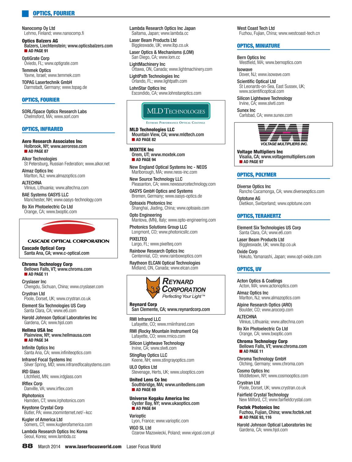 Laser Focus World - Buyers Guide 2014 - page 87