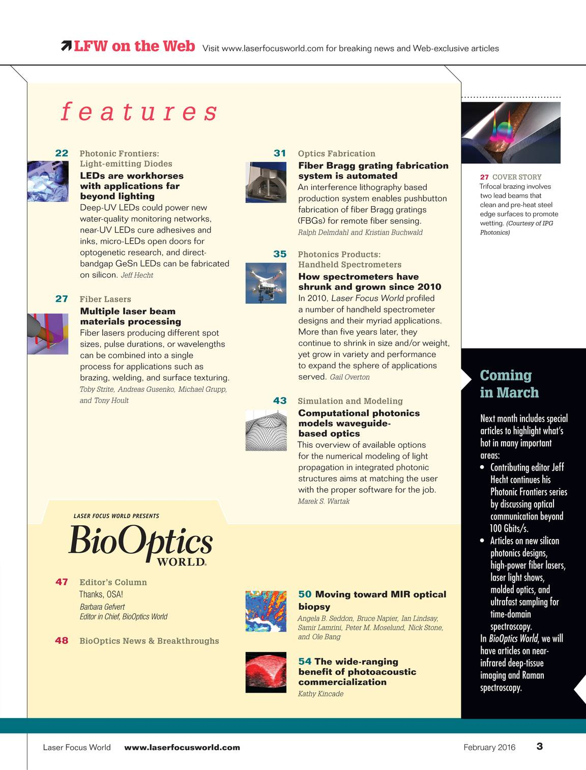 Laser Focus World February 2016 Page 3 Diode Need Help Pointer Forums Discuss Presents