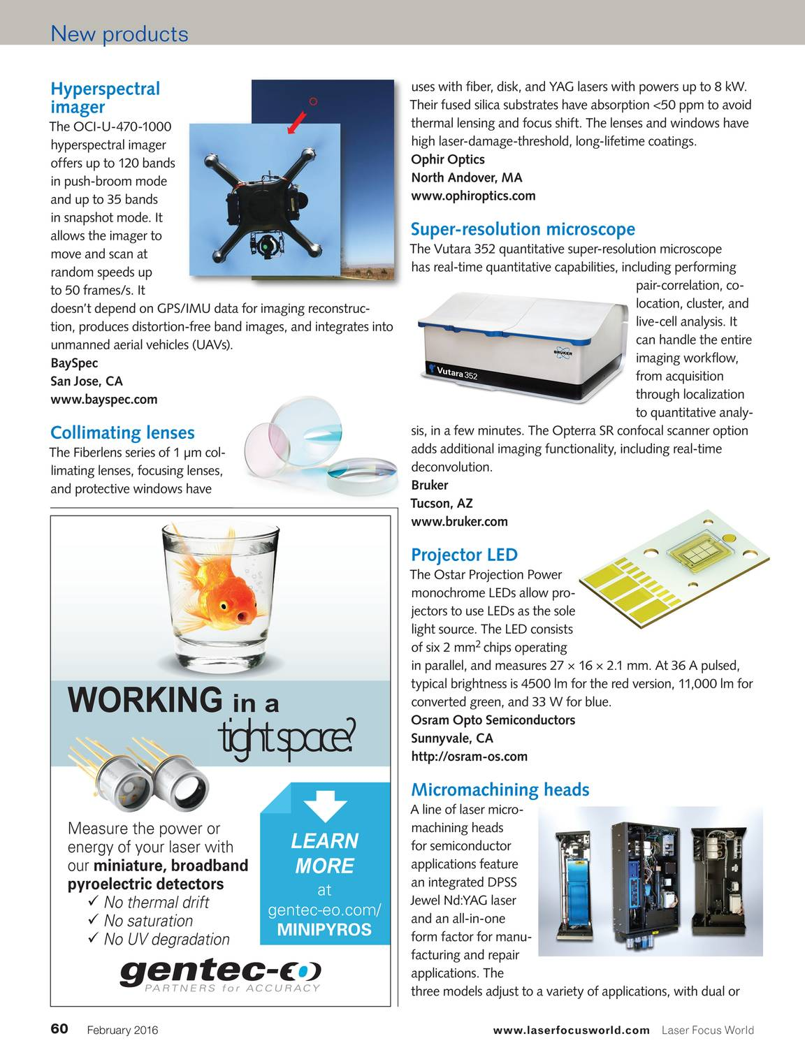 Laser Focus World - February 2016 - page 61